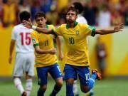 Neymar festejando su gol